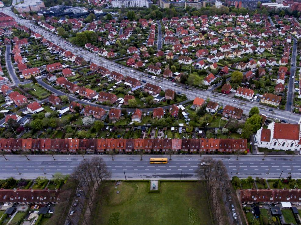 Corona Lockdown. Bellahøjhusene, Bakkehusene, Hillerødgade, Hulgårdsvej og Vanløse, Frederiksberg og Nordvest