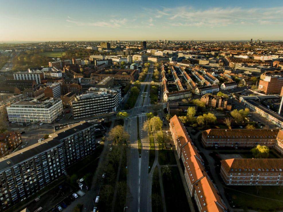 Lersø Parkallé fra Haraldsgade til Gribskovvej på Østerbro i København.