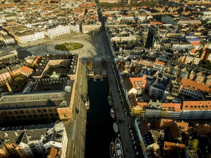 Kgs Nytorv, Nyhavn, Havnegade og Knippelsbro i København