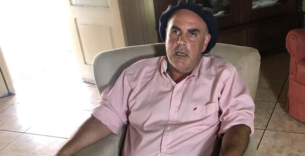 Primo do deputado federal Paulo Pimenta (PT), o médico veterinário Antônio Mário Pimenta, diz que o deputado era operador de um sistema que lesou produtores rurais da cidade de São Borja — Foto: Giovani Grizotti/RBS TV