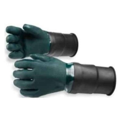 Grønn-PVC-hanske-med-skaft