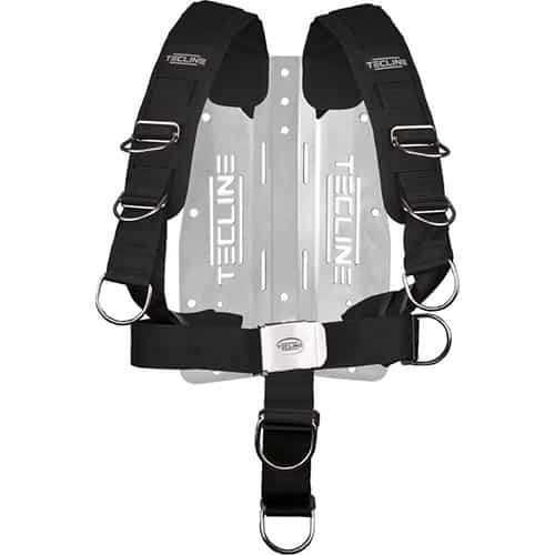 Tecline Aluminium Bakplate m/komfort harness