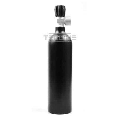 Alu flaske svart 0,85 L m/kran