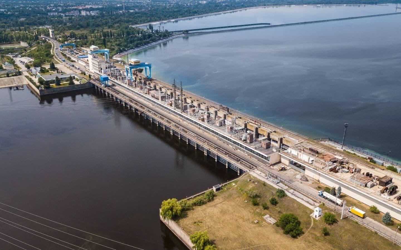 Dæmningen i Kiev, Ukraine.
