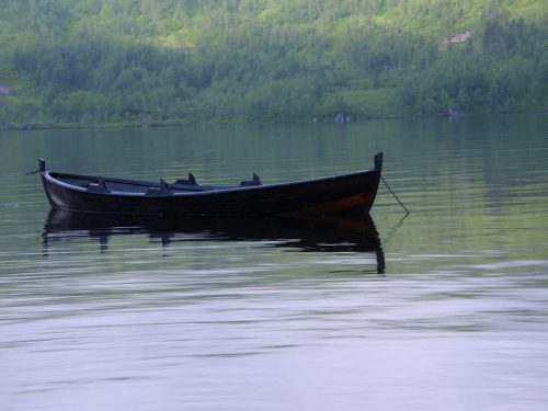 Båt i Gaular vassdragt