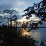 Zonsondergang in Cuyabeno Amazone Reservaat