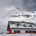 Berghut op de Chimborazo in Ecuador