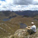 Uitzichtpunt in Cajas natuurreservaat Ecuador