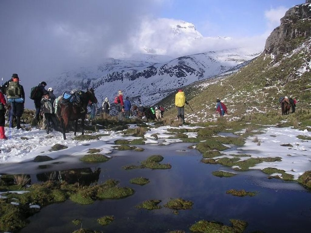 Carihuairazo bergbeklimmen in Ecuador reis