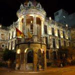 Koloniaal Cuenca in de avond