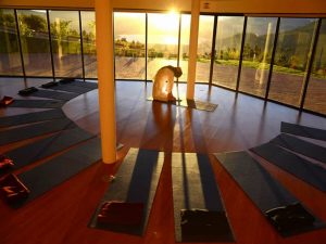 Yoga retreat in Otavalo de Andes van Ecuador