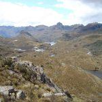Uitzicht over Cajas natuurreservaat Cuenca