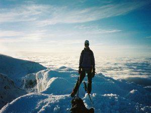 Top van de Chimborazo Vulkaan bergbeklimmen Ecuador
