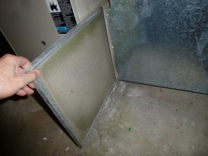 Dirty Furnace Filter - Home Inspection Cedar Rapids, Cedar Falls, Iowa City, Marion, Waterloo, Waverly, Manchester, Independence, Oelwein, Anamosa, Mt Vernon, North Liberty, Coralville, Iowa