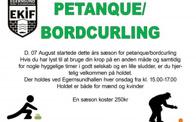 Bordcurling/Petanque NYT i EKIF