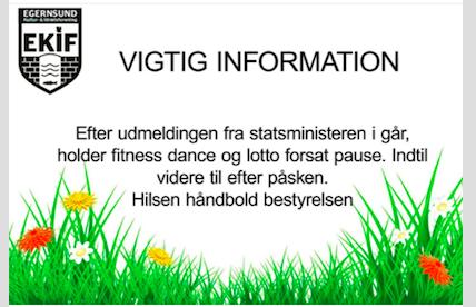 Fitness dance og LOTTO – er fortsat på PAUSE.
