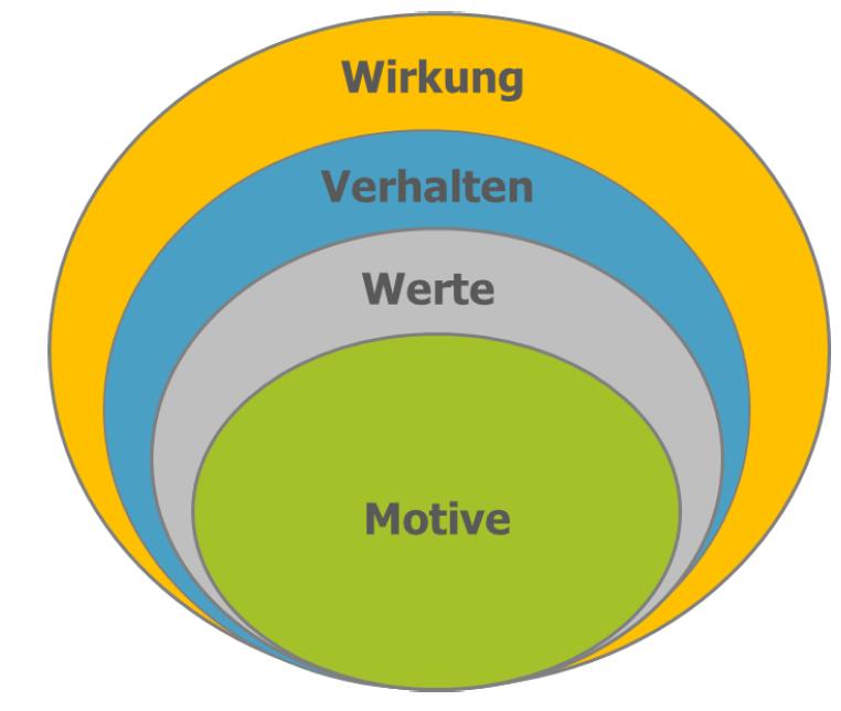 Zwiebelmodell der Persönlichkeit im Reiss Motivation Profile