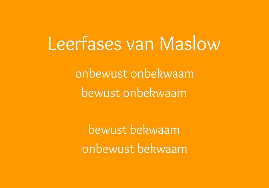 Leerfases van Maslow