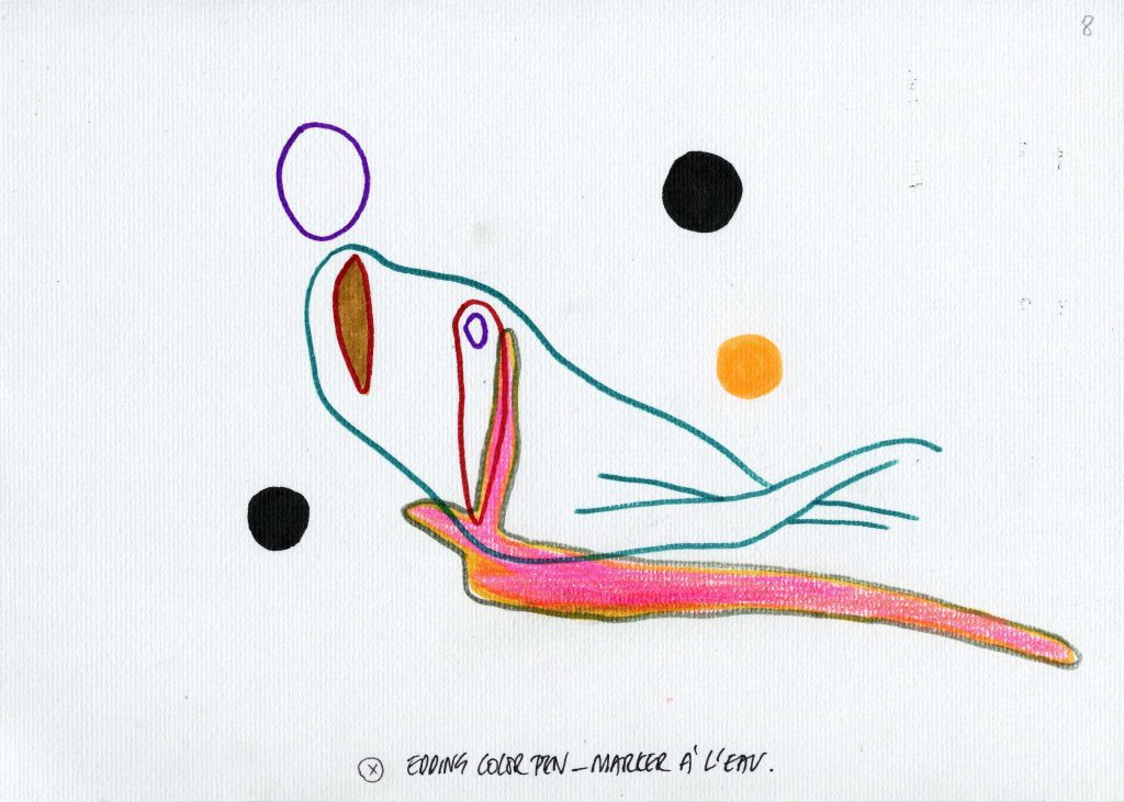 One of the exapmples realised by artist Anne-Mie Van Kerckhoven for Amel, Melina and the others.
