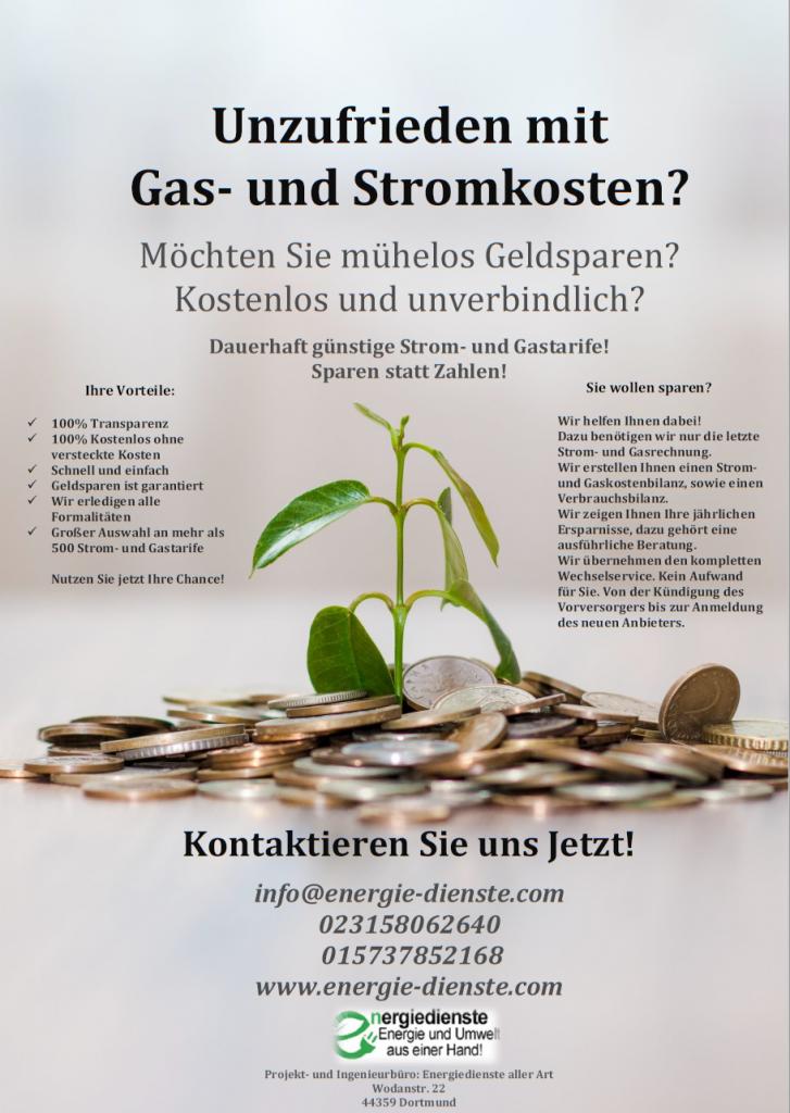 Flyer: günstige Stromtarife sind bei uns garantiert.