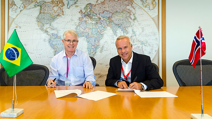 CEO Renato Bertani, Barra Energia, and Anders Opedal, Equinor Brazil country manager