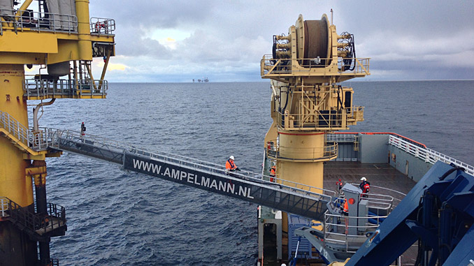 Ampelmann has helped nearly 300,000 offshore workers commute safely to and from vessels and assets in the North Sea (photo: Ampelmann)