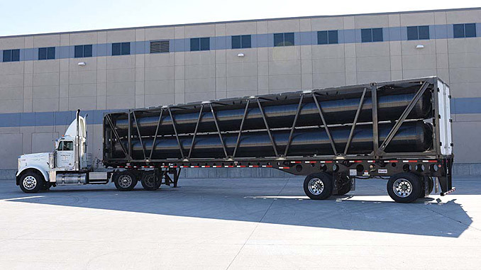 TITAN®53 Mobile Pipeline® gas transport module (photo: Hexagon Composites)