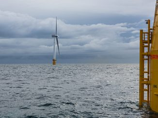 Hywind Scotland – five turbines at Buchan Deep August 2017 (photo: Equinor/Øyvind Gravås/Woldcam)