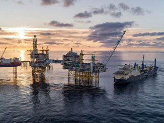 'Saipem Castorone' at the Johan Sverdrup field in the North Sea (photo: Bo B. Randulff/Roar Lindefjeld/Equinor ASA)