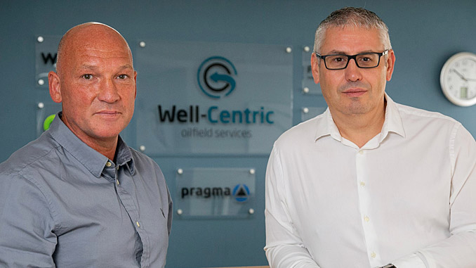 From left, Malcolm Adam, Well-Centric Sales Director,with Gary Smart, CEO