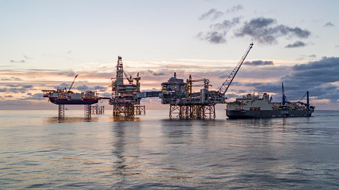 The Johan Sverdrup field in the North Sea (photo: Bo B Randulff/Roar Lindefjeld/Woldcam/Equinor)