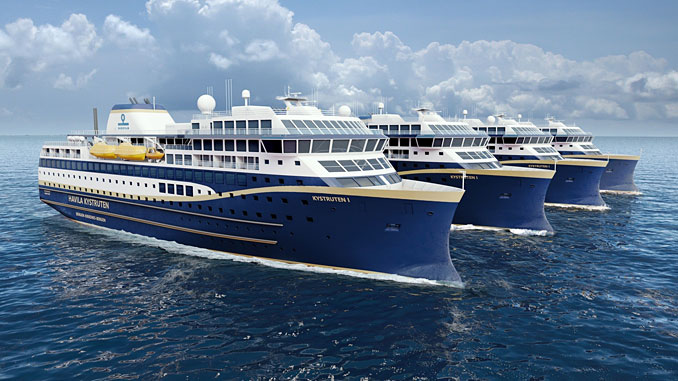 Rolls-Royce will provide a fully integrated LNG power and propulsion solution to four new build Ro-Pax vessels of Havyard 923 design