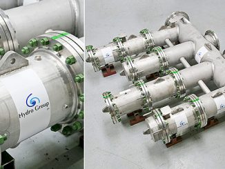Hydro Renewable Connectors (HRC) ready to be deployed on site