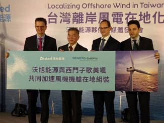 The 900 MW projects to utilise approximately 112 SG 8.0-167 DD offshore wind turbines – service agreement includes local tower supply set-up through CS Wind and Chin-Fong partnership
