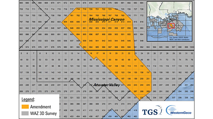 Amendment multiclient seismic survey in the Mississippi Canyon and Atwater Valley protraction areas of the US GoM