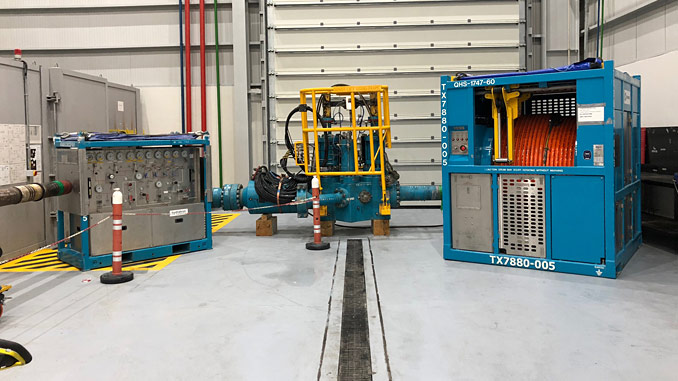 Surface flow tree assembly – the purpose-built facilities in Baku, Azerbaijan, will allow Expro to provide integrated subsea services to clients in the region