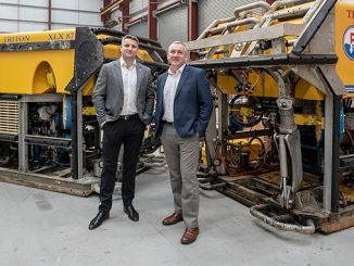 From left, business development consultant, Michael O'Donnell, and Head of Middle East & Asia, Doug Middleton, staff the Middle East operation