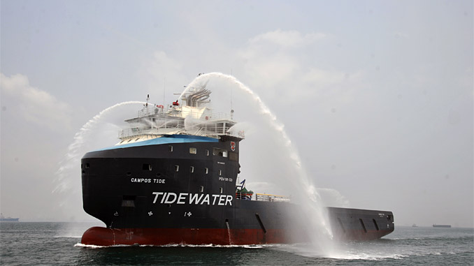 Tidewater's offshore service vessels 'Campos Tide'