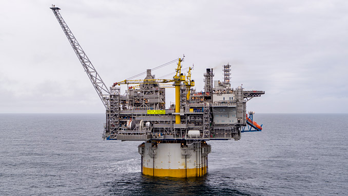 The Aasta Hansteen platform in the Norwegian Sea (photo: Equinor/Roar Lindefjeld and Bo B. Randulff)
