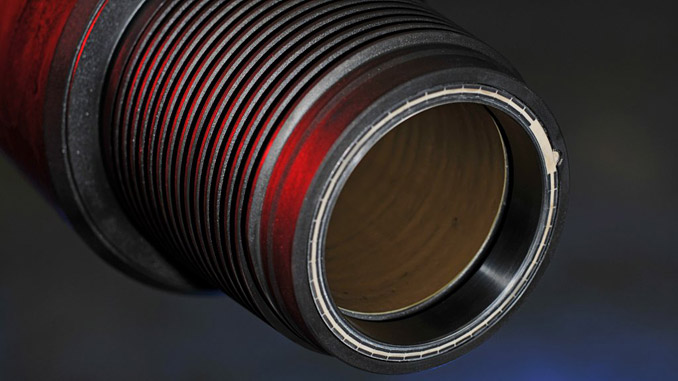 The wire inside the drill pipe allows high-speed data transfer