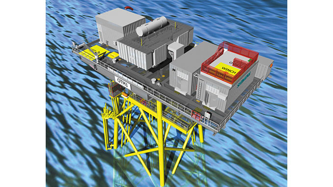 As an OTM® – offshore transformer module – is significantly smaller in size and weight compared to conventional alternating current platforms, there's no need for special vessels for transport and installation