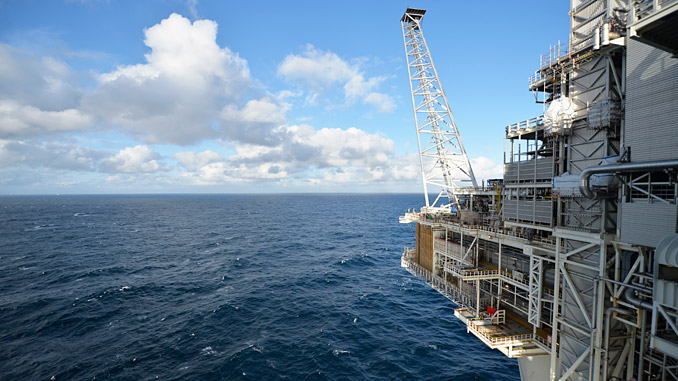 View from Troll A (photo Equinor/Harald Pettersen)