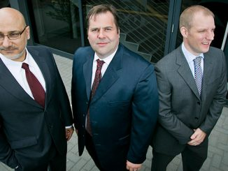 From left, Nadir Mahjoub, Managing Director; Jamie Oag, CEO; and Ryan Strachan, Financial Director