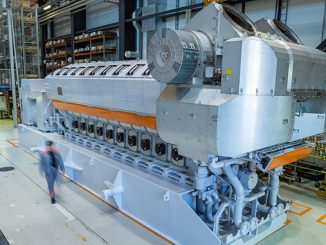 With extreme high efficiency and flexibility, Wärtsilä 31SG engines operate on natural gas (photo: Wärtsilä)