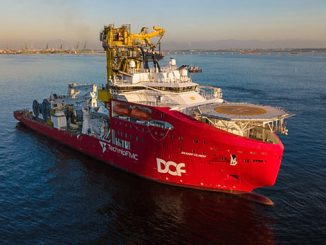 The 'Skandi Olinda', a Brazilian-flagged flexible lay and construction vessel owned by the joint venture formed between TechnipFMC and DOF