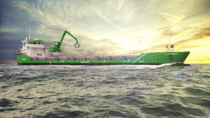 Rendering of how the 'Hagland Captain' will look after the retrofit of a Wärtsilä hybrid propulsion solution – the conversion will create fuel savings and environmentally sustainable operations