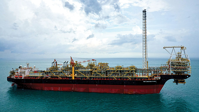 The 'FPSO Prof. John Evans Atta Mills' is operating in approximately 1,500 metres water depth on the TEN (Tweneboa, Enyenra and Ntomme) fields in the Deepwater Tano contract area offshore Ghana