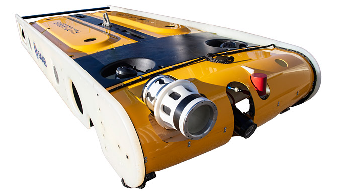 Sabertooth fitted with Blue Logic charger is the world's first system capable of remote docking operations