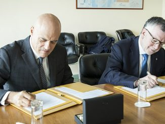 Eni Chief Executive Officer, Claudio Descalzi, and Massimo Inguscio, President of the Italian National Research Council