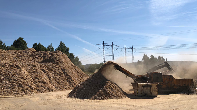 Wood chips for fuel in waste-to-energy facilities